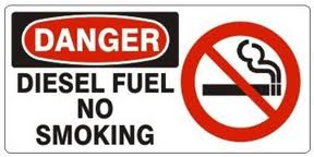 image of danger diesel fuel sign
