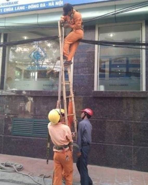 A longer ladder is all they needed..