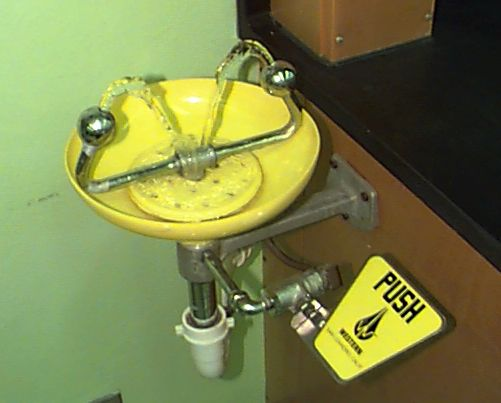 Image of an eyewash station